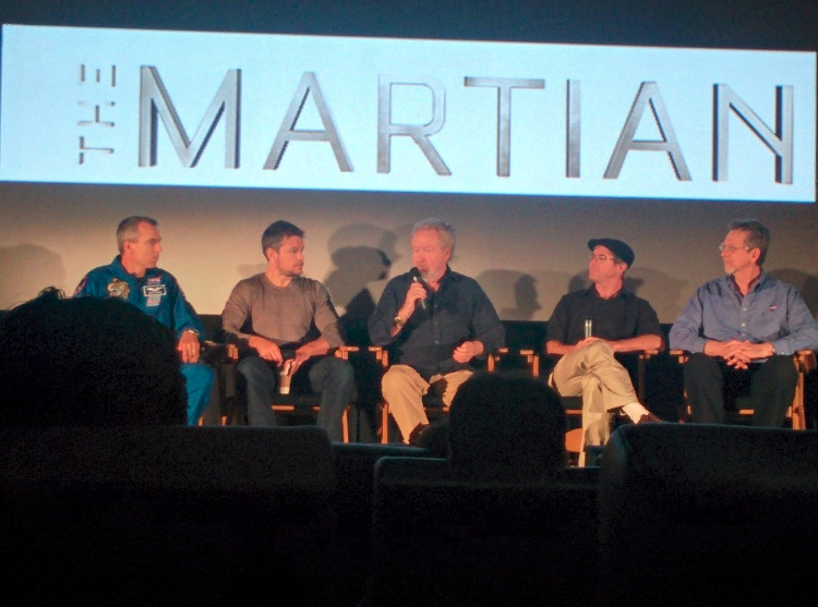 The panel discussion at The Martian screening